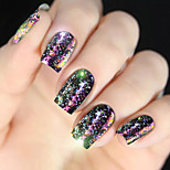 economico -diamante colorato paillettes conchiglia colorata decorazione nail art