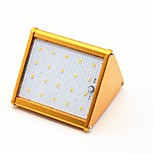 1pcs 20LEDs Solar Lamp Radar Sensor Solar Light IP65 Outdoor Wireless Wall Lamp Warm/Cool Whte Glod/Sliver Shell