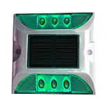 cheap -1PCS Aluminum Solar 6-LED Outdoor Road Driveway Dock Path Ground Light Lamp Green