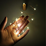 2m 20-LED Copper Wire String Light with Bottle Stopper for Glass Craft Bottle Fairy Valentines Wedding Decoration Lamp Party bateria 3 * bateria LR44