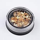 Недорогие -1 шт гвоздь ювелирные изделия diy ретро стиль металла полые тонкие блестки рождественские снежинки 5g золото цвет аксессуары