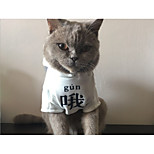 Cat Dog Shirt / T-Shirt Dog Clothes Stylish Solid White Costume For Pets
