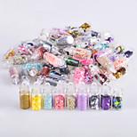 economico -nail glitter art deco / gioielli per unghie retro lucido 0.177 kg / scatola