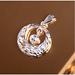 Women's Sliders Pendants Round Silver Sweet Elegant Jewelry For Dailywear Going out