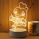 1 juego Regulable Luces LED Decorativa Color variable Creativo Luz Decorativa Luz de noche LED Luces USB-3W