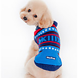Dog Sweater Dog Clothes Casual/Daily Stripe Green Blue Costume For Pets