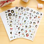 5 Pcs/Set Girl Daily Diary Sticker Phone Sticker Scrapbook Stickers