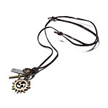 Men's Women's Statement Necklaces Circle Leather Alloy Vintage Casual Jewelry For Daily Casual