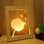 1 Set Of Home Decoration Acrylic 3D Night Light LED Lamp USB Mood Lamp, Photo Frame Light, Dimming, 3W, Dandelion