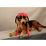 Cat Dog Wig Dog Clothes Stylish Striped Pink Costume For Pets