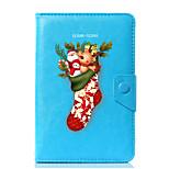универсальный рождественский дизайн pu кожаный чехол для стенда для 7-дюймового 8-дюймового 9-дюймового 10-дюймового планшетного ПК