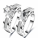 cheap -Men's Women's Knuckle Ring Cubic Zirconia Classic Sweet Fashion Gift Elegant Zircon Copper Jewelry For Wedding Party Birthday Graduation