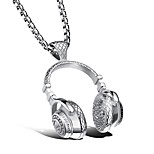 Men's Women's Pendant Necklaces Geometric Titanium Steel Metallic Sports Jewelry For Ceremony New Year