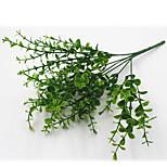 32см 4 шт 49 оставить / ветка эвкалипта зеленая трава домашнее украшение искусственные цветы