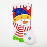 большой нетканый материал рождественский чулок рождественский орнамент снеговик