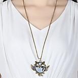 Муж. Жен. Ожерелья с подвесками Стразы Сова Стразы Сплав Простой Хип-хоп Бижутерия Назначение Повседневные На выход