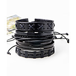 Men's Bracelet Oversized Rock Hiphop Statement Jewelry Cord Dermis Jewelry Jewelry For Daily Casual