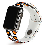 Watch Band For Apple Watch Series 3 / 2 / 1 Silicone Leopard Style Replacement Bracelet Strap 38mm 42mm