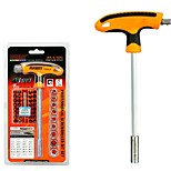 41 em 1 kit de ferramentas de reparação de carro conjunto de chave de fendas conjunto torx soquete t-handle ferramentas de mão-de-obra