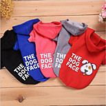 cheap -Cat Dog Sweatshirt Christmas Dog Clothes Casual/Daily Keep Warm Warm Ups Leisure Casual/Sporty Adorable Halloween Animal Black Gray Red