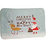 Santa And The Deer Flocking Plastic Foam Mat