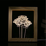 1 Set Of 3D Mood Night Light LED Lights USB Bedroom Photo Frame Lamp Gifts Rose