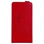 Недорогие -Кейс для Назначение Huawei Redmi Note 4 Redmi 4X Кошелек Бумажник для карт со стендом Флип Рельефный С узором Магнитный Чехол Цветы