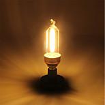1 Pça. 5W E14 Lâmpadas de Filamento de LED C35 4 leds COB Branco Quente 400lm 2200-2700K AC 220-240V