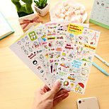 6 Pcs/Set Cartoon Pig Diary Sticker Phone Sticker Scrapbook Stickers