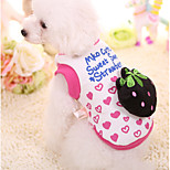 Dog Sweatshirt Dog Clothes Casual/Daily Fruit Pink Fuchsia Costume For Pets