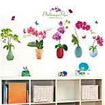 cheap -Floral/Botanical Wall Stickers Plane Wall Stickers Decorative Wall Stickers,Vinyl Material Home Decoration Wall Decal