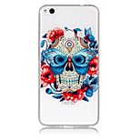 Case For Huawei P8 Lite (2017) P10 Lite Ultra-thin Transparent Embossed Pattern Back Cover Skull Soft TPU for Huawei P10 Lite Huawei P9