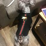 Dog Shirt / T-Shirt Dog Clothes Stylish British Black Black