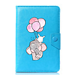Universal Cartoon Elephant PU Leather Stand Cover Case For 7 Inch 8 Inch 9 Inch 10 Inch Tablet PC