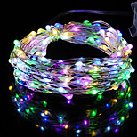1PCS HKV® 2M 20LED DC 5V Copper Wire Fairy String Light Christmas Wedding Party Decoration String Light 3 x AA Battery (No batteries)