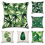 комплект из 6 тропических листьев листьев растений классический диван подушка покрытие хлопок / белье наволочка случае 45 * 45 см