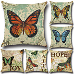 6 pcs Cotton/Linen Pillow Case Pillow Cover Traditional/Classic Euro Retro