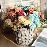 Недорогие -1 Филиал Другое Недвижимость сенсорный Гвоздика Букеты на стол Искусственные Цветы