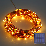 1Set HKV® 12M 100LED DC 5V Solar Copper Wire LED String Light Outdoor Waterproof Fairy Lamp For Wedding Christmas Decoration