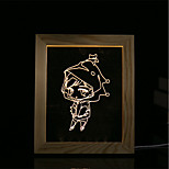1 Set Of 3D Mood Night Light LED Lights USB Bedroom Photo Frame Lamp Gifts Little Girl