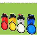 Dog Bowls & Water Bottles Pet Bowls & Feeding Portable Blue Red Yellow White