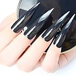 1 pcs aurora miroir noir effet ongles paillettes pure lumière noire 1 g / bouteille miroir poudre bijoux ongles