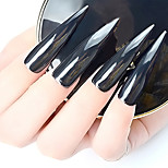 1 Pcs Aurora Black Mirror Effect Nail Glitter Pure Black Light 1G /Bottle Mirror Powder Nail jewelry