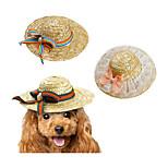 Кошка Собака Платки и шапочки Одежда для собак новый Плетеный Для отдыха Бант Бант Зеленый Розовый Радужный Костюм Для домашних животных