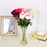 3 ветки шелковые розы 53см украшение для дома искусственные цветы 5 цветов