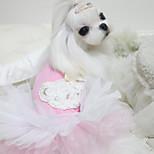 Dog Dresses Dog Clothes Lace Princess Blue Pink