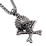 Муж. Ожерелья с подвесками Ожерелья-цепочки , Череп Сплав Хип-хоп Готика Бижутерия Назначение Карнавал Бар