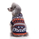 Недорогие -Кошка Собака Свитера Одежда для собак На каждый день Мода Цветовые блоки Контрастных цветов Синий Розовый Костюм Для домашних животных