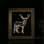 cheap -1 Set Of 3D Mood Night Light LED Lights USB Bedroom Photo Frame Lamp Gifts Sheep