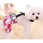 Собака Брюки Одежда для собак На каждый день геометрический Пурпурный Синий Костюм Для домашних животных